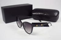 Wholesale cheap vintage eyewear - High quality Vintage designer luxury brand Eyewear Sunglasses women lady shade Fashion cheap Retro glasses with original Zipper Case