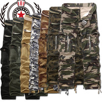 Wholesale Mens Camouflage Combat Trousers - New Mens Combat Military Camouflage Cargo Army Cotton Camo Pants Trousers