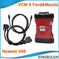 Wholesale vcm ii - Newest V95 VCM II IDS Multilanguage Ford Mazda Diagnostic tool OBD II Diagnostic Tool VCM2 VCM 2 easy to install DHL Free Shipping