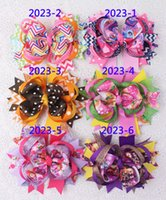 Wholesale Hairbows Character - New arrival 5inch 6pc Boutique Grosgrain Ribbon Christmas Halloween Baby Girl Infact Hairbows 2023-1-6-Y