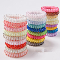 Wholesale Wholesale Bag Manufacturers - 27 color 100pcs Bag Manufacturers selling wholesale phone line hair ring jelly phone line hair rope selling headdress S04
