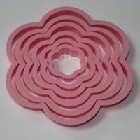 помадные цветочные фрезы оптовых-6 шт. Сливы цветок торт кекс печенья фондант печенье кондитерские формы для выпечки Бесплатная доставка
