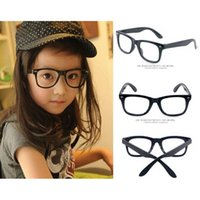 Wholesale Solid Plastic Frame - Top Grade Fashion Children Sunglasses Frames Girls Eyeglasses Sunglass without Lenses Super Light and Lovely Frame Glasses Wholesale 0020GLS