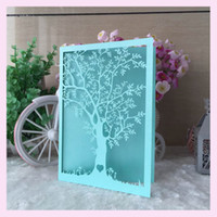 Wholesale Wholesale Invitation Paper Supplies - Wholesale- 50pcs lot 2017 NEW Love Tree Wedding Party Supplies China Laser Cut Luxurious Wedding Invitations Elegant Pearl Paper 21 colors
