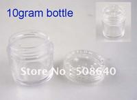 çivi çantası boş toptan satış-Toptan-10 Gram Boş Tırnak Durumda 100 adet / grup Nail Art Glitter Toz Tozu Boş Kutu Tüm Satış Temizle Tencere Şişe Konteyner Kavanoz 404