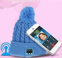 Wholesale Shipping Fashion Speakers - Women Sports Knitted Bluetooth Hat Headphone Speaker Beanie Bluetooth Headphone Warm Winter Music Cap Free Shipping