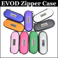 Wholesale Ego Carry Mt3 - EVOD Zipper case Protective carrying Case leather bag size for S M L for EGO MT3 EVOD E cig starter kit colorful case kits