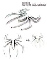 lastwagen heckscheibenabziehbilder großhandel-Lkw-Auto-Aufkleber-Dekor der Art und Weise 10pcs / lot Metall, das kühle Emblem der Spinne 3D festes Auto-LKW-Logo-Aufkleber-Abziehbild anklebt Freier Verschiffenautozugang