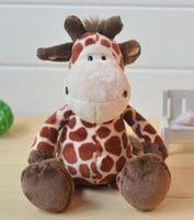 Wholesale Nici Animal Series - NICI 35cm Wild Friends Jungle Series plush toys Animals Giraffe Plush Stuffed dolls birthday gifts