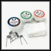 Wholesale Ecig Wholesale 5pcs - 2015 Howing Twisted Wire Coils 0.4ohm 0.5ohm 0.6ohm Resistance for DIY Ecig RDA Atomizer 24 26 28AWG 5pcs One Box