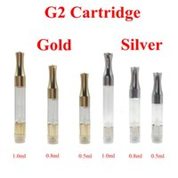 Wholesale Round Metal Match - G2 Cartridge CE3 Atomizer Silver and Gold Colors Round Metal Mouthpiece Tip V3 Vapor Match Battery Preheating batteries