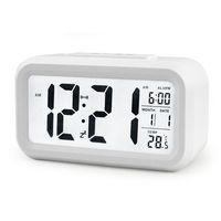 Wholesale Digital Lcd Calendar - 5 Color LED Digital LCD Alarm Clock Time Calendar Thermometer Snooze Backlight Clock