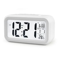 5 colori LED Digital Alarm Clock LCD Termometro Snooze Orologio retroilluminato