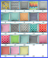 Wholesale Chevron Fabric Wholesalers - Cushion case Chevron wave Printed Cushion Cases fashion Mediterranean style Pillow Covers Home Textiles Decor 23colors Decorative Pillow