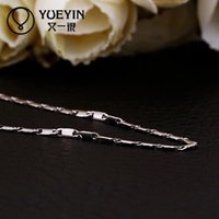 Wholesale China Wedding Party Suppliers - 925 Sterling silver necklace pandent C018 Wholesale China supplier 18k gold long chain