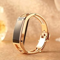 Wholesale Vibrating Bracelets Answer - New 2015 Bluetooth D8 Full steel Smart Bracelet Sync Wrist LED Digital Watch with Vibrate can answer phone for Smart phone gift