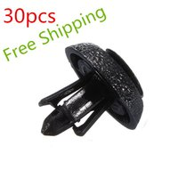 Wholesale Clips For Sunglasses - 30Pcs High Quality 7mm Nylon Bumper Clip Grille Push-Type Retainer Clips For Toyota & Lexus FREE SHIPPING