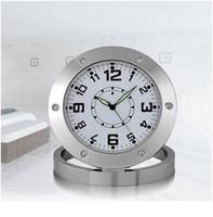 Wholesale Nanny Cam Clocks - Spy Nanny Clock Cam 640*480 VGA Hidden Bathroom Camera Motion Detection Mini DVR Voice Recorder Video Camcorder Micro Camara