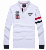 Wholesale Racing Business - Pop Shop Great Britain Hackett Racing Mens Polo Shirts London HKT Casual Polos Cotton Long Sleeve Spring Autumn Business Men Tops