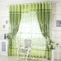 Wholesale Grommet Drapes Curtains - On sale ! Curtains Luxury Beaded For Living Room Tulle +Blackout Curtain Window Treatment drape In Golden Pink Freeshipping