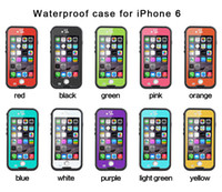 Wholesale iphone backs for sale for sale - Redpepper Waterproof Case For Iphone Plus Shockproof Snowproof Hard PC TPU Back Cover fingerprint Retail Package factory sale