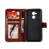 Wholesale huawei honor free shipping for sale - Group buy Crazy horse grain wallet PU Leather case cover For Huawei honor A card holder