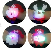 hafif alkış toptan satış-Noel hallowmas High-end işıklı dekorasyon Bez sanat clap daire çocuk Brian daire çocuk şerit lamba Topu bilezikler Süslemeleri