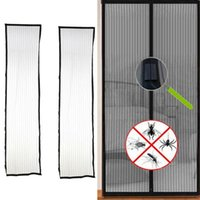 Magnetic Soft Stripe Screen Door Summer Anti-Mosquito Magic Mesh Curtains Insecto Fly Bug mosquitera en la puerta Imanes Cortinas transparentes