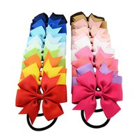 Wholesale headband accessories western for sale - Everweekend Color CM Baby Girls Bowknot Elastic Hair Bands Candy Color Bow Hairpins Western Hair Accessories