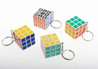 Wholesale Cheap Promotion Toys - Cheap price Promotion 35mm Magic Cube Keychain 3x3x3 Smooth Magic Puzzle Cube Speed cube Keychain toys