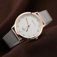Wholesale Famous Electronics - Hot Selling Stainless Steel Casual Silver Wristwatch Dress Watches Women Men Electronics Famous Brand Watch 3 Color Free Shipping