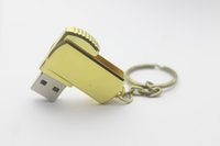 Wholesale Custom 32gb Usb - Swivel metal Key USB Flash Drive 32GB 64GB 128GB Memory Stick USB 2.0 Pen Drives custom logo Retail package free DHL