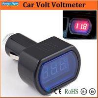 Wholesale Truck Battery Wholesale - Car Styling 2pcs lot Diagnostic Tools DC12V Digital LED Car Truck System Battery Voltmeter Voltage Gauge Volt Meter Tester