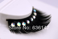 Wholesale Dress Minimum Order - (Minimum order $ 5) The bride wedding dress Rhinestone natural false eyelashes False Eyelashes