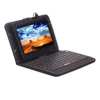 """Wholesale Tablet Case Usa - US Stock!iRULU 7 Inch A33 Quadcore Q88 1024*600 HD Capacitive Screen 8GB Tablet PC Wifi Dual Cameras With 7"""" Leather Keyboard case"""