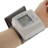 Wholesale New Health Care Portable Home Automatic Digital Wrist Cuff Blood Pressure Monitor amp Heart Beat Meter Lcd Display Health Care