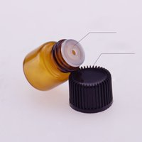 Wholesale most popular caps resale online - Most Popular mL Mini Amber Glass Essential Oil Bottle Empty Sample Vials Brown Refillable Bottles With Orifice Reducer Cap