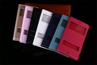 xperia z3 flip cover achat en gros de-Étui à rabat en cuir Smart Touch Étuis à housse de sommeil avec porte fenêtre ouverte Étui pour Sony Xperia Z2 Z3 Mini Z4 Z5 C5 M5 E3 T3