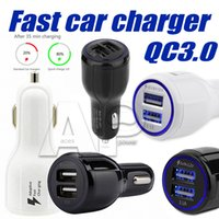 Wholesale High Quality Usb Car Charger - High Quality 9V 2A 12V 1.2A QC3.0 fast Car Charge Full 3.1A Dual USB Fast Charging phone charger