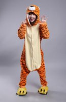 Wholesale Adult Tiger Pajamas - free shipping new Latest Cool Zodiac Adults Tiger Onesie Anime Cosplay Costumes Unisex Women Men Pajamas
