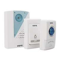 ingrosso campanello digitale senza fili-V001AB 38 Tunes Telecomando wireless Digital LED Campanello per porte TWO rimorchia un campanello senza fili