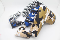 Wholesale mini putter - New golf camouflage putter head cover for golf putters with mini putter golf head covers with magnet