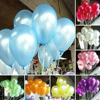 Wholesale Birthday For Boys - A25 Hot 100pcs lot 10 inch Colorful Pearl Latex Balloon for Party Wedding Birthday T1081 P