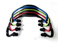 mp3 kopfhörer micro sd groihandel-FM Kopfhörer Laufen Sport MP3 Digital Music Player Wireless Headset Kopfhörer mit Micro SD TF-Kartensteckplatz mit Kleinpaket Box
