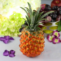 Wholesale Fruit Decoration Supplies - Large size yellow Artificial faux pineapple Simulation plastic Fruits for desktop decoration Living room home wedding decorations supplies