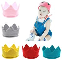 Baby Stricken Krone Tiaras Kinder Infant Häkeln Stirnband Neugeborenen Winter Warme Hut Geburtstag Party Fotografie Requisiten Beanie Bonnet