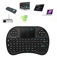 2.4G Mini Rii i8 Wireless Bluetooth Clavier Souris Combo Touchpad PC Fly Air Mouse Batterie rechargeable USB Cable Charging Black White Hot