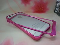 Wholesale Ultra Thin Slim Aluminum Alloy Frame And fashion bumper For IPhone S Without Retail Package UP