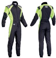 yarış arabası toptan satış-Yeni arrivel araba yarışı takım elbise tulum ceket pantolon set turuncu yeşil mavi boyutu XS. 4XL erkekler ve kadınlar giymek yanmaz