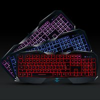 Wholesale Illuminated Keyboard Laptop - AULA BEFIRE USB 2.0 Wired 3 Colors Backlit LED Illuminated Ergonomic Game Gaming Multimedia Keyboards for PC Laptop